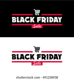 Black Friday sale inscription design template. Vector illustration. Sales, offers and discount