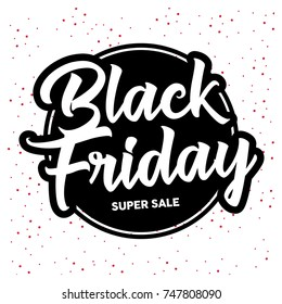 Black Friday sale inscription design template. Vector illustration. Sales, offers and discount. The biggest discounts of the year