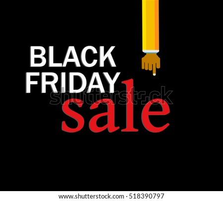 black friday sale inscription design template stock vector royalty