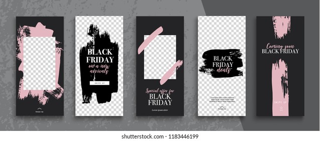 Black Friday Sale Instagram Stories  template. Streaming.