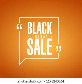 Black Friday sale line quote message concept isolated over a orange background