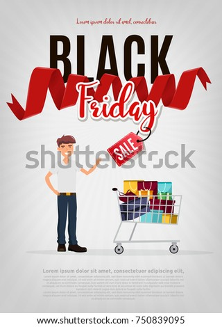 b4bc7d6b8cfa Black Friday Sale Modern Poster Banner Stock Vector (Royalty Free ...