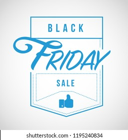 Black Friday sale modern stamp message design isolated over a white background