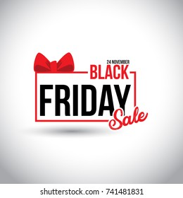 Black Friday Sale. New Creative Typography on White Background