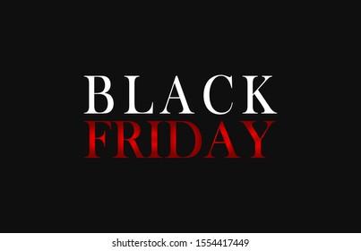 Black Friday sale on BLACK background.Vector illustration.