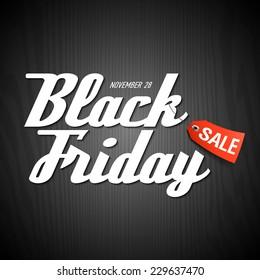Black Friday Sale poster element. Vector.