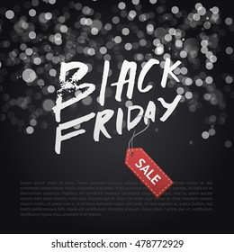 Black Friday Sale / poster in realistic style include background with lights /
