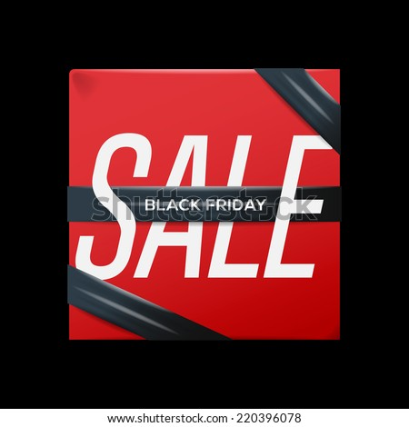 Black Friday Sale Poster Ribbon On Stock Vector Royalty Free