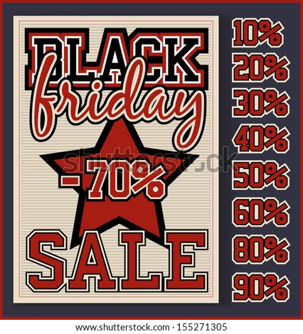 black friday sale poster template stock vector royalty free