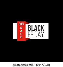 Black Friday Sale Poster in Vector Format
