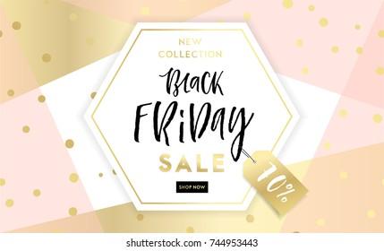 Black Friday Sale Poster. Vector illustration. Sale banner, background, flyer, invitation card template design