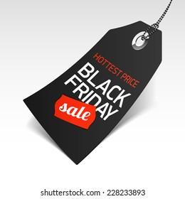 Black Friday Sale price tag. Vector.