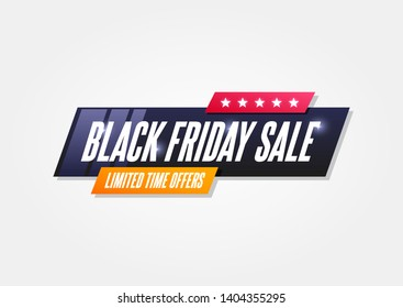 Black Friday Sale Shopping Announcement Label