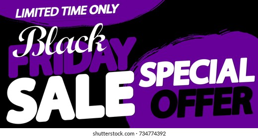 Black Friday Sale, special offer, poster design template, vector illustration