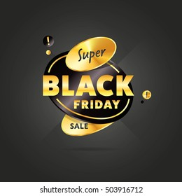 Black friday sale sticker or black friday discount banner. Special offer sale tag discount symbol retail sticker sign price isolated modern graphic style vector illustration.