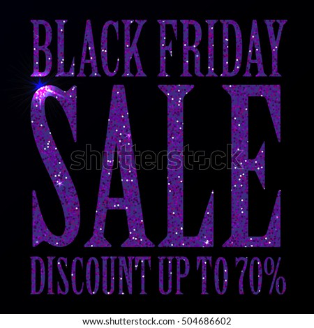 13831ad4624 Black Friday Sale Black Tag Advertising Stock Vector (Royalty Free ...