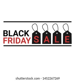 Black friday sale tag, banner black friday vektor,