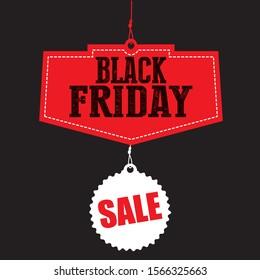 Black Friday sale. Black Friday tag. Black Friday banner.