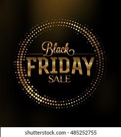 Black Friday Sale Typographic Design - Black and Gold