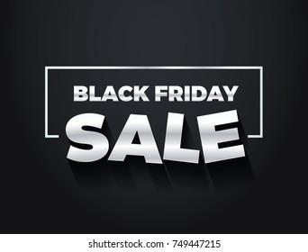 Black Friday sale vector banner design.