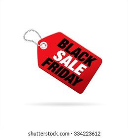 Black Friday Sale. Vector tag