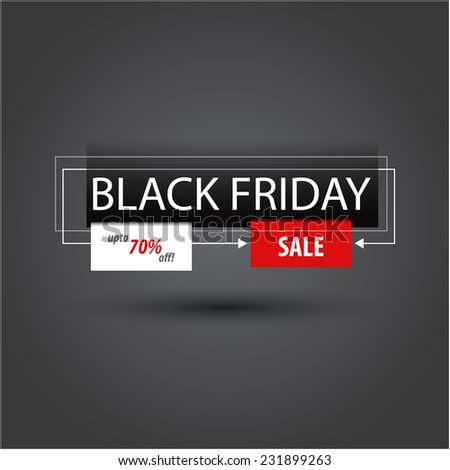 black friday sales tag template stock vector royalty free