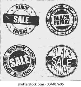Black friday stamps set