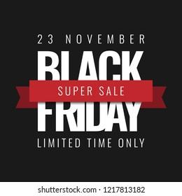 Black Friday Super Sale Background