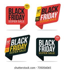 Black Friday Super Sale Badge. Vector Illustration