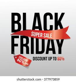 black friday supersale design layout
