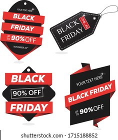 Black Friday Tag Design collection