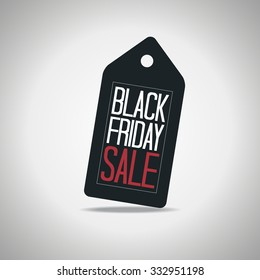 Black Friday Tag Poster Vector Illustration. Text on a Price Tag.
