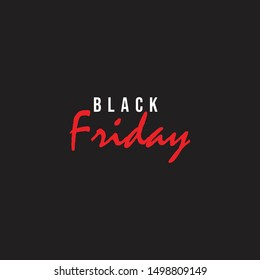 Black Friday Template Vector, Design for Card or Banner