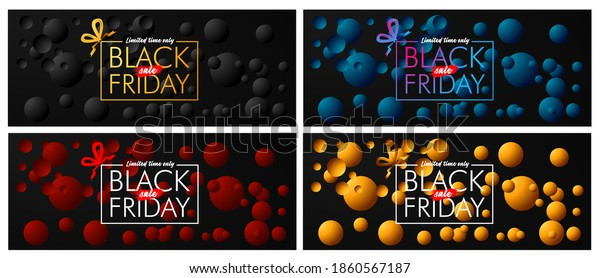 black friday text on black background vector design illustration