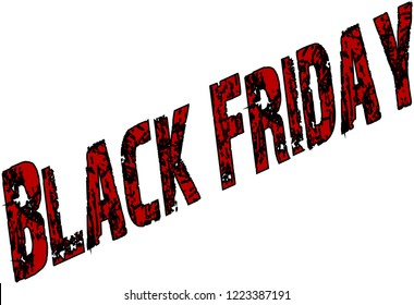 Black friday text sign illustration on white background