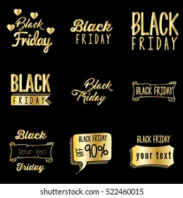 Black Friday Typography Design Template