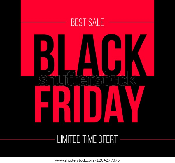 861ddfcb3 Black Friday Vector Project Promote Your Stock Vector (Royalty Free ...