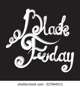 Black Friday. vector Vintage design poster template. Vector lettering Black Friday. Creative lettering. Trendy. Black Friday Sale Calligraphic Design