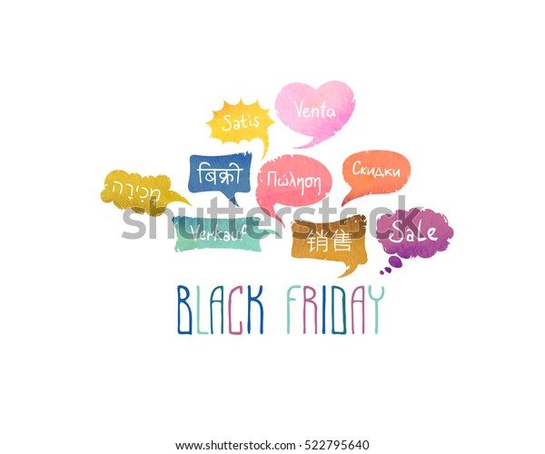 Black Friday Word Sale On Different Stock Vector (Royalty Free