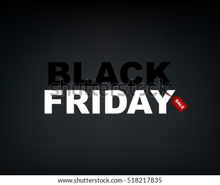 e713bf4f92f Black Friday wording with sale word on red tag. Design in vector  illustration