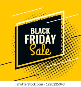 black friday yellow and black abstract sale banner template