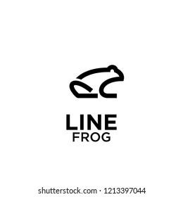 black frog logo icon designs vector