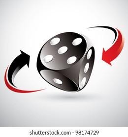 black gambling dice