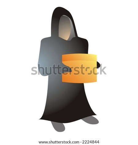 Black Ghost Box Stock Vector (Royalty Free) 2224844