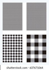 Black Gingham Pattern Background