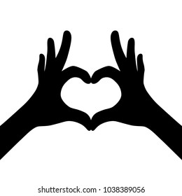 black girl hands making heart. flat life style trend idea modern charity logotype graphic art design isolated on white background. concept of amour grace or very good rest and community or support