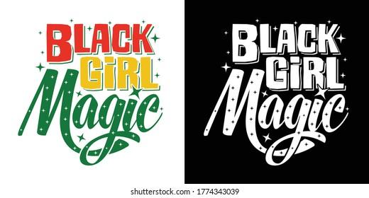 Black Girl Magic Printable Vector Illustration