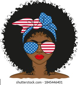 Girl afro vector black Afro Woman
