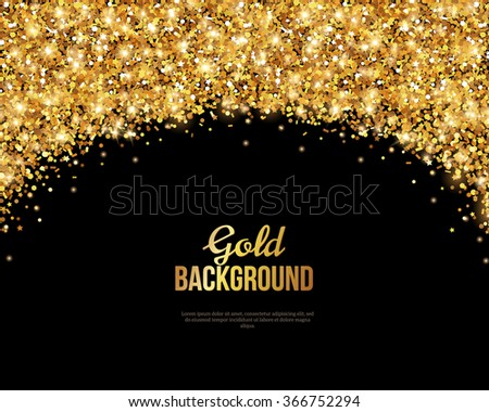 black and gold banner greeting card design golden dust vector illustration happy