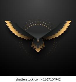 Black and gold eagle illustration